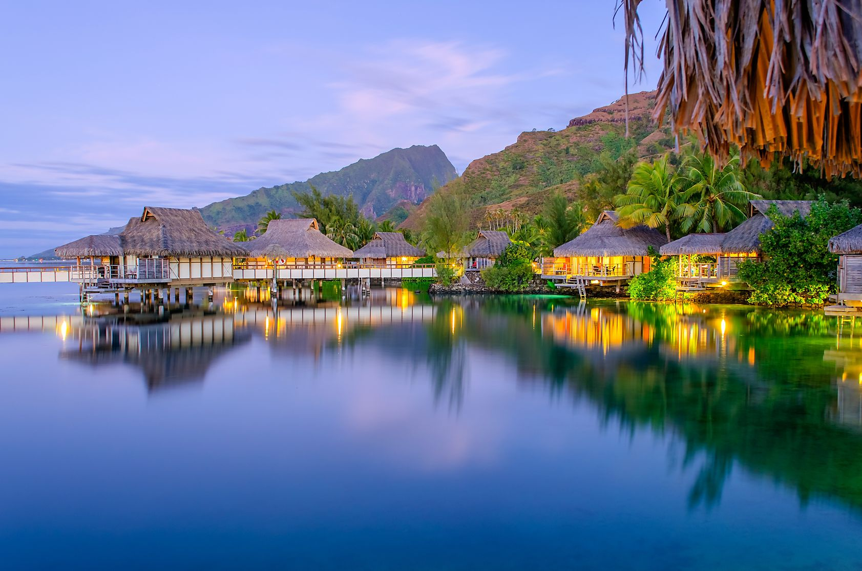 FTG-Overwater-Bungalows-at-dusk-French-Polynesia